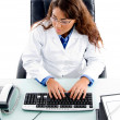 Royalty-Free Stock Photo: Doctor working on computer