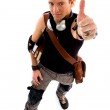 Cool skater showing thumbs up — Stock Photo #1351658