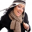 Gorgeous woman in winter outfit — Stock Photo #1351712