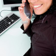 Businesswoman talking on phone — Stock Photo