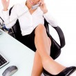 Executive busy on phone — Stock Photo #1352125