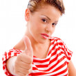 Beautiful model with thumbs up — Stock Photo #1352502