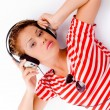 Young woman fond of music — Stock Photo