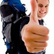 Handsome young traveler with luggage — Stock Photo #1353244