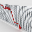 Stock Photo: Three dimensional decreasing graph