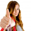 Beautiful teenager showing thumbs up — Stock Photo #1353358