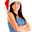 Charming young girl with folded arms — Stock Photo