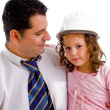 Caring father with his cute daughter — Stock Photo #1353559