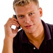 Cool guy talking on phone — Stock Photo #1353592