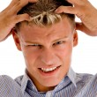 Stock Photo: Male suffering from headache