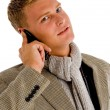 Professional person busy on phone call — Stock Photo