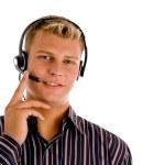 Customer representative wearing headset — Stock Photo #1353760