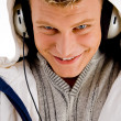 Young handsome man enjoying music — Stock Photo #1354087