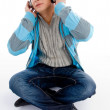Young guy listening music — Stock Photo #1354113