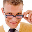 Stock Photo: Smart student wearing spectacles