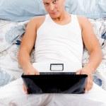Man working on laptop — Stock Photo #1355058