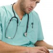 Doctor with laptop and stethoscope — Stock Photo