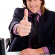 Royalty-Free Stock Photo: Smiling manager with thumbs up
