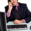 Stock Photo: Male executive talking on phone
