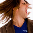 Stock Photo: Shouting young male