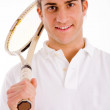 Stock Photo: Male carrying tennis racket