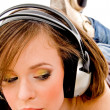 Royalty-Free Stock Photo: Young model wearing headphones