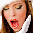 Close view of shocked female — Stock Photo #1357748