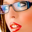 Stock Photo: Close view of model with eye wear