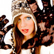 Young female posing in winter cap — Stock Photo #1357765