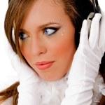 Young female enjoying music — Stock Photo #1357900