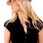 Female wearing hat — Stock Photo #1357999