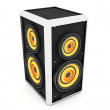 Three dimensional sound box - Stock Photo