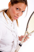 Portrait of tennis player — Stock Photo