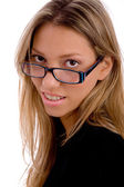 Young woman wearing eye-wear — Stock Photo