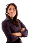 Young asian service provider — Stock Photo