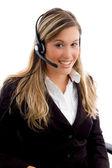 Friendly customer service provider — Stock Photo
