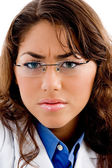 Close up of doctor with eye-wear — Stock Photo
