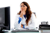 Medical professional looking at camera — Stock Photo