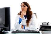 Medical professional looking at camera — Stock Photo
