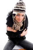 Gorgeous woman in winter outfit — Stock Photo