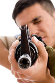 Close up of soldier going to shoot — Stock Photo