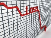 Three dimensional loss graph — Stock Photo