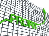 Three dimensional profit graph — Stock Photo