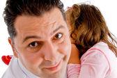 Adorable père tient sa fille — Photo