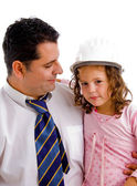 Caring father with his cute daughter — Stock Photo