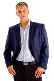 Handsome adult businessman posing — Stock Photo