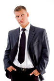 Handsome businessman looking at camera — Stock Photo