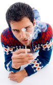 Young man posing with cigarette — Stock Photo