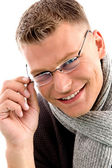 Smiling young male wearing eye-wear — Stock Photo