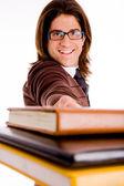 Leende ung student — Stockfoto